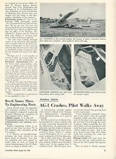 1953 Aviation Article AG-1 Airplane Crash Experimental Agricultural Plane CAA