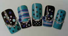 Fun Stars Nail Art Decal Water Transfer Stickers Natural/False Nails Finger/Toe