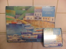 Coastal Set of  4 Table Place Mats and Coaster Set BNIB