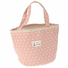 Cotton Linen Insulated Lunch Bag Tote Grocery Bag Carry Bag Color Pink Gallant
