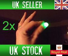2x Magic Light up thumbs fingers GREEN trick appearing light