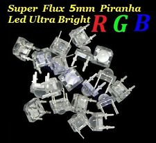 100PCS Super Flux 5mm Piranha RGB LEDs, Ultra Bright 4 Terminal Common Anode Led
