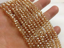 500pcs Amber Gold exquisite Glass Crystal 3*4mm #5040 loose beads