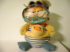 "Vtg Garfield Cat Scuba Diver 8"" 1980's Tags Plush Stuffed Animal Fun Farm Dakin"