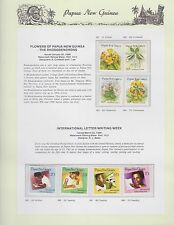 1989 PAPUA NEW GUINEA Flowers Rhododendrons Letter Writing Week Stamp Set K-489