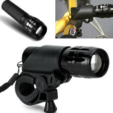 CREE Q5 240 Lumen Cycling Bike LED Flashlight Torch Front Head Light Reflectors