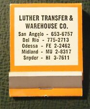 Matchbook - Allied trucking San Angelo Del Rio Odessa Midland Snyder TX FULL