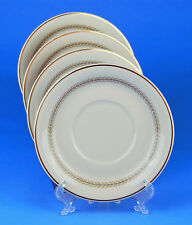 Set of 4 Cream Soup Bowl Saucers, SUPERB! Coronation-Multicolor, Community China