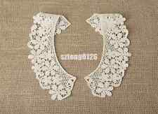Vintage Floral Lace Collar Crochet Neckline Clothes Sewing Applique Trim Sewing