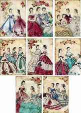 Victorian Ladies ~ Card Making Toppers / Scrapbooking / Crafting