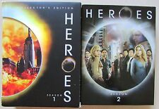Heroes Season 1 2 DVD Lot of 2 Box Sets 1-2