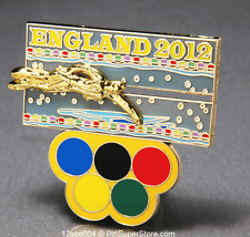 OLYMPIC PINS 2012 LONDON ENGLAND SWIMMING SWIMMER SLIDER SLIDING (GOLD) SPORTS