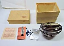 NOS NEW Ronson LOTUS Silver Plated Table Lighter in Original Box w/ Tags Papers