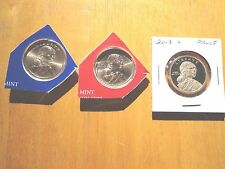 2013 P D S Sacagawea Dollar Proof Native American 3 Coin Set Sealed Mint Cello