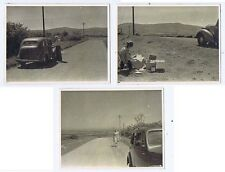 CALDBECK FELL Picnic by the Roadside - 3x Vintage Photographs 1955