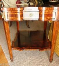 Maitland Smith Crotch Mahogany Serpentine Square End Side Table 3230-724
