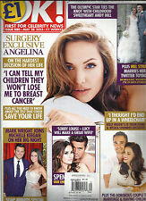 OK, FIRST FOR CELEBRITY NEWS, MAY, 28th 2013 ( SURGERY EXCLUSIVE ANGELINA  )