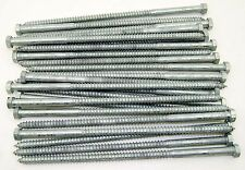 "(25) Galvanized Hex Head 3/8 x 10"" Lag Bolts Wood Screws"