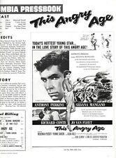 THIS ANGRY AGE pressbook, Anthony Perkins, Silvana Mangano, Richard Conte