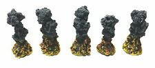 Wargames Terrain 5 x  RESIN EXPLOSION MARKERS - Flames of War, 40K. - UNPAINTED