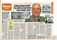 Coupure de presse Clipping 1986 Armand Jammot Des chiffres et les lettres 2 pges