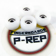 Peoples Republic- CNC Lathed Bearing Wheels for wooden fingerboard  - White