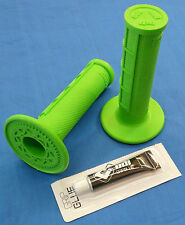KAWASAKI KFX 450 KFX450 ODI HALF WAFFLE MX GRIPS GLUE GREEN NEW TWIST THROTTLE