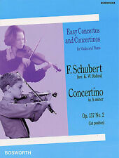 Schubert Concertino in A Minor Op.137 No.2 Learn to Play Violin Piano Music Book