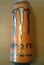 1 Volle Energy Drink Dose 500ml Monster Zero Ultra Sunrise Full Can Coca Belgien