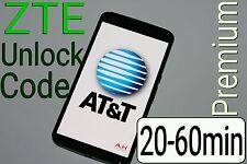 Unlock Code AT&T ZTE Maven Z812 Z831 Compel Z830 ZMAX 2 Z958 Z998 Z992 Z740 USA