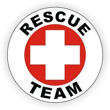 Rescue Team Hard Hat Decal / Helmet Sticker Safety Label Emergency Medical