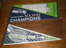 3 SEATTLE SEAHAWKS 2014 SUPER BOWL XLVIII CHAMPIONS DIFFERENT PENNANTS - NEW