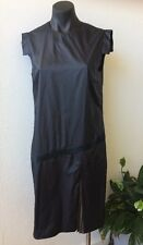 Designer Veronique Branquinho Size 42 Black Dress Au 12