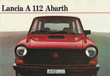 Lancia Autobianchi A112 Abarth • 1981 • Brochure Prospekt • German • EXCELLENT