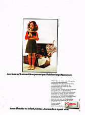 PUBLICITE ADVERTISING 074  1972  CREATEX JEUNESSE pret à porter enfant FILLE