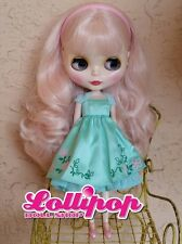 Factory Type Neo Blythe Doll Pale Pink Hair - with Outfit OR Stand US SELLER