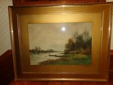Stunning Antique/Vintage Landscape Watercolor Painting, Signed L. Harland (j)