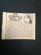 M4-2 Ephemera 1979 Article Don Johnson From Here To Eternity Tv Show