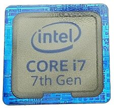 INTEL CORE i7 7th.edition STICKER LOGO AUFKLEBER 18x18mm (166)