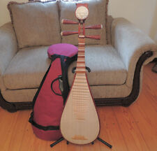 CHINESE WOOD LUTE PIPA LUET LIUQIN MUSICAL INSTRUMENT GUITAR