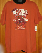 NEW Mens LUCKY BRAND Red Comb Corn Whiskey Graphic S/S Rust Tee Shirt Medium NWT