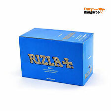 Genuine New Rizla Standard Blue Cigarette Rolling Papers - BOX OF 100 BOOKLETS