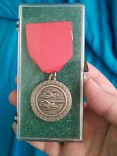Siver-tone Metal Swimming Award Medal Sunset League '99 2nd Relay