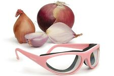 RSVP Onion Goggles w/ Case Tear Free Anti Fog Cutting Chopping Grilling PINK