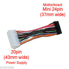 20 Pin PSU to MINI 24 Pin Motherboard cable adaptor. UK SELLER. FAST SHIPPING