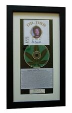 DR. DRE The Chronic CLASSIC CD Album GALLERY QUALITY FRAMED+EXPRESS GLOBAL SHIP