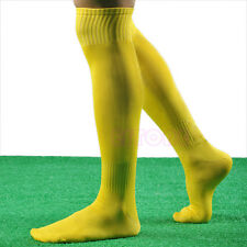 New Mens Women Sports Long Socks Knee High Football Soccer Hockey Rugby Stocking