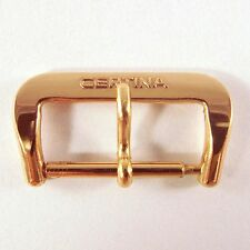 ORIGINAL Vintage (New Old Stock) Goldplated RED Tone CERTINA Buckle 17mm