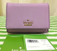 NWT $88 Kate Spade CAMERON STREET BECA Leather ID Key Chain Card Wallet Lilac