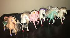 6 ENCHANTED KINGDOM HORSES Plastic Toy Figures NICE ASSORTMENT 1980's Lot